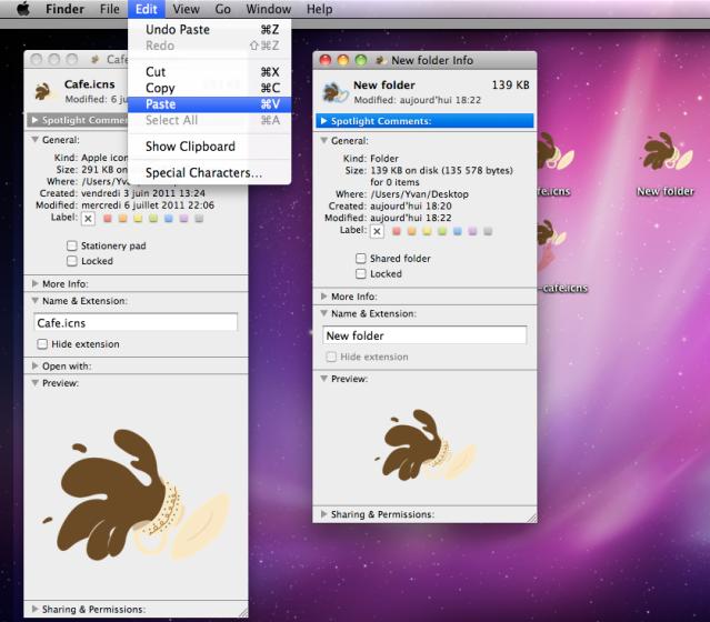 how to change program icons on mac