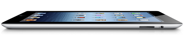 iPad flat side